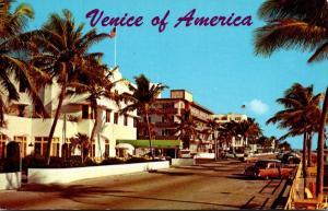 Florida Fort Lauderdale Hotels Along Atlantic Boulevard 1964
