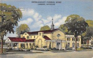 G56/ Funeral Home Postcard Lansing Michigan Estes Leadley Funeral
