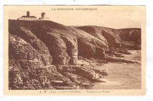 Cap Fréhel,Côtes-d'Armor,  Brittany, France, 1910s ; Falaises et Phare