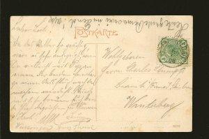 Austria Postmark 1906 Moldau-Ursprung J Seidel 1905 Postcard