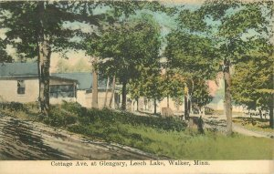 C-1910 Cottage Ave Glengary Leech Lake Walker Minnesota Postcard 21-5295