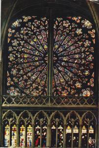 Postal 61795 : Tours (indre-et-Loire). Cathedrale St. Gatien. La Rose Nord