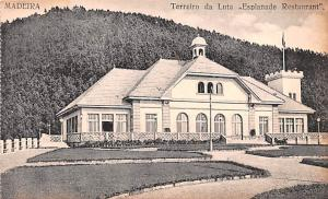 Spain Old Vintage Antique Post Card Madeira Terreiro da Luta, Esplanade Resta...