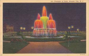 New Jersey Fountain Of Light At Night Curteich