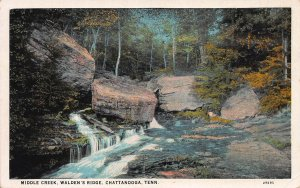 Middle Creek, Walden's Ridge, Chattanooga, Tennessee, Early Postcard, Used