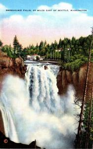 Washington Snoqualmie Falls 28 Miles East Of Seattle