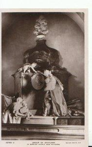 Northamptonshire Postcard - Group of Statuary - Warkton Church, Kettering TZ1108