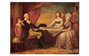 Artist Post Card The Washington Family by Savage Andrew Mellon Co...