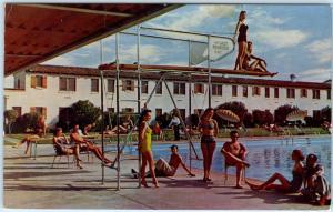 LAS VEGAS, NV  Bathing Beauties LAST FRONTIER Glamorous Swimming Pool Postcard