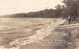 D47/ Ortonville Minnesota RPPC Postcard '29 Beach Etrrnal Springs Park Big Stone