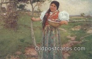 Artist Joy Douba Postcard Post Card Old Vintage Antique postal used unknown