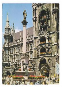 Munchen Munich Rathaus Town Hall Mary Column1979 4X6