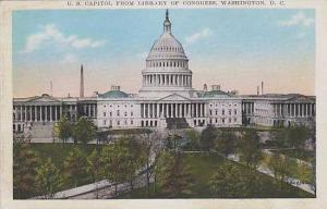 Washington Dc U S Capitol From Library Of Congress