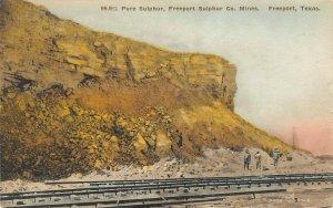 LP34    Mining  Freeport Texas Vintage Postcard Sulphur Co. Mines Albertype