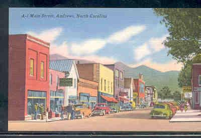 North Carolina colour PC Main Street Andrews