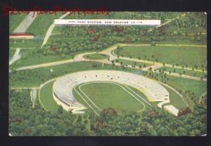 NEW ORLEANS LOUISIANA CITY PARK FOOTBALL STADIUM VINTAGE POSTCARD AERIAL