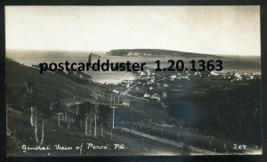 1363 - PERCE Quebec 1920s Panoramic View. Real Photo Postcard by Henderson