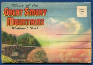 Great Smoky Mountains National Park Loop over North Carolina nc Postcard Folder