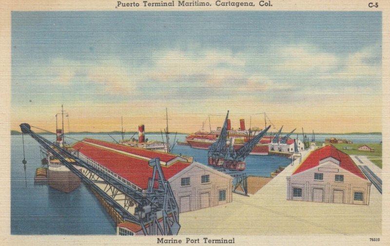 CARTAGENA , Colombia , 1930-40s ; Puerto Terminal Maritimo