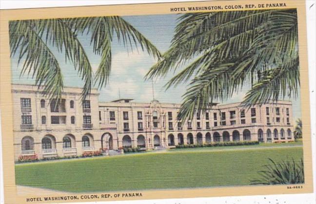 Panama Colon Hotel Washington Curteich