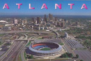 Georgia Atlanta Aerial View Atlanta-Fulton County Stadium and Georgia Dome