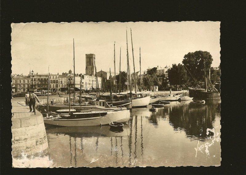 Postmark 1950 Vincennes France LaRochelle YVON Real Photo Postcard