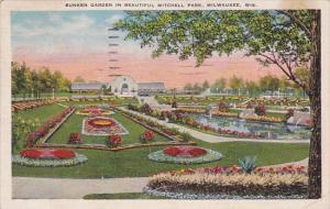 Wisconsin Milwaukee Sunken Garden In Beautiful Mitchell Park 1936