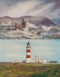 Isle Of Man Tower Of Refuge Disaster Weather & Lighthouse 2x Postcard s