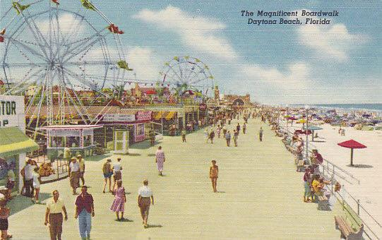 Ferris Wheel The Magnificent Boardwalk Daytona Beach Florida 1930 1940s