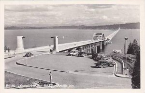 Washington Seattle Lake Washington Bridge Real Photo RPPC
