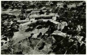 rhodesia, VICTORIA FALLS, Aerial View of the Hotel (1940s) RPPC
