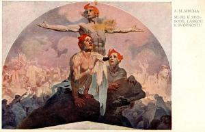 Power to Unity; Love for Harmony          Artist Signed:  Alphonse Mucha   (F...