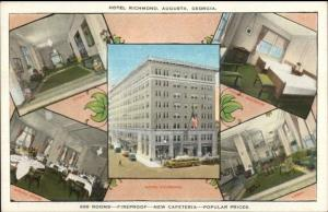 Augusta GA Hotel Richmond c1920 Postcard