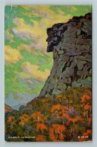 White Mt. NH- New Hampshire Old Man of Mt. Franconia Notch Chrome c1947Postcard