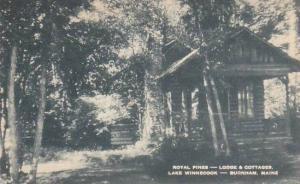 Maine Burnham Royal Pines Lodge & Cottages Lake Winnecook