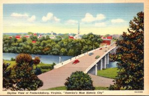 Virginia Fredericksburg Skyline View Curteich