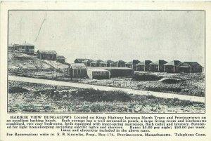 C-1905 Truro Provincetown Massachusetts Postcard Harbor View Bungalows 21-568