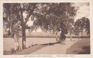 Connecticut Twin Lakes East Shore Lake Washining Albertype