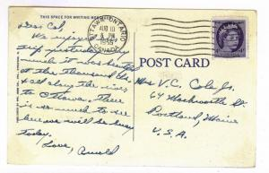 Ottawa, Ontario to Portland, Maine 1955 PC, Boldt Castle, Thousand Islands