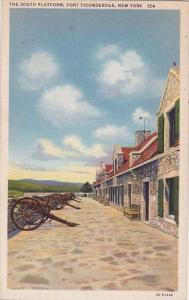 The South Platform Fort Ticonderoga New York 1935