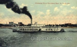 Mississippi River, St. Louis Mo. USA Steamboat, Ship Unused