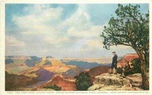 C-1910 Yavapai Point View Grand Canyon Arizona Harvey Phostint Postcard 21-560