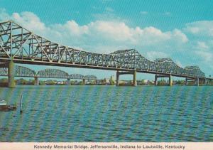 Kentucky Louisville Kennedy Memorial Bridge To Indiana