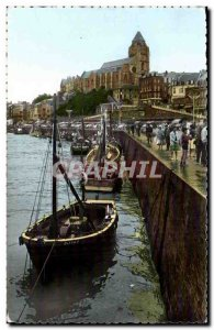 Treport - The Port and L & # 39Eglise - Old Postcard