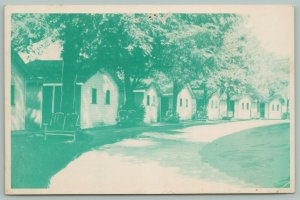 White Pigeon Michigan~The Elms Roadside Motel~Modern~Good Beds~c1950 Postcard