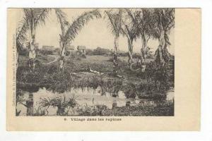 Village Dans Les Raphias, Africa, 1900-10s
