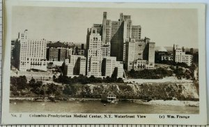 1935 Columbia Presbyterian Medical Center New York RPPC Postcard Waterfront View