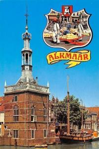Netherlands Holland Alkmaar Kaasmarkt Accijnstoren Cheese Market Bateau Boat