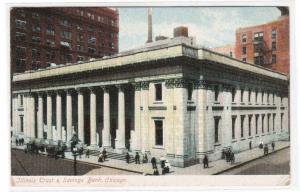Illinois Trust & Savings Bank Chicago Illinois 1910c postcard