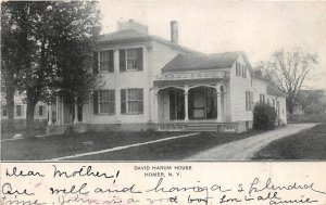 G49/ Homer New York Postcard 1906 David Harum House Building